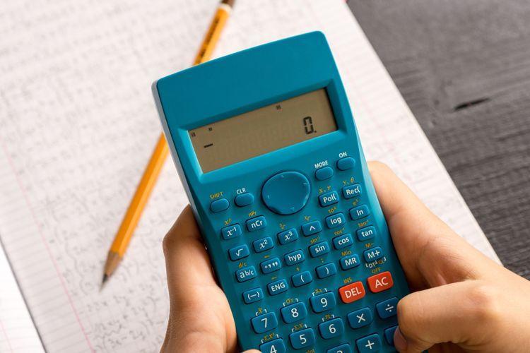 Modrá vědecká kalkulačka