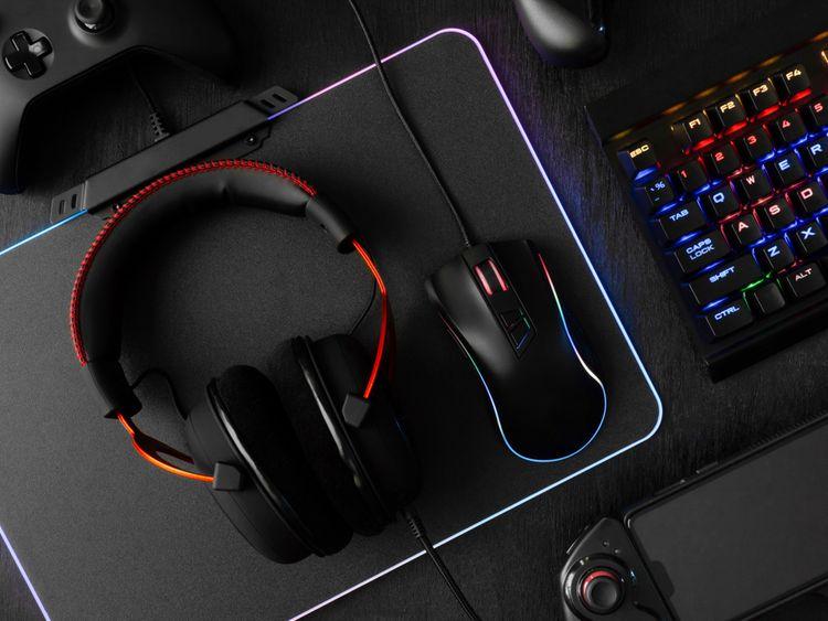 Podsvícená drátová hráčská myš k PC