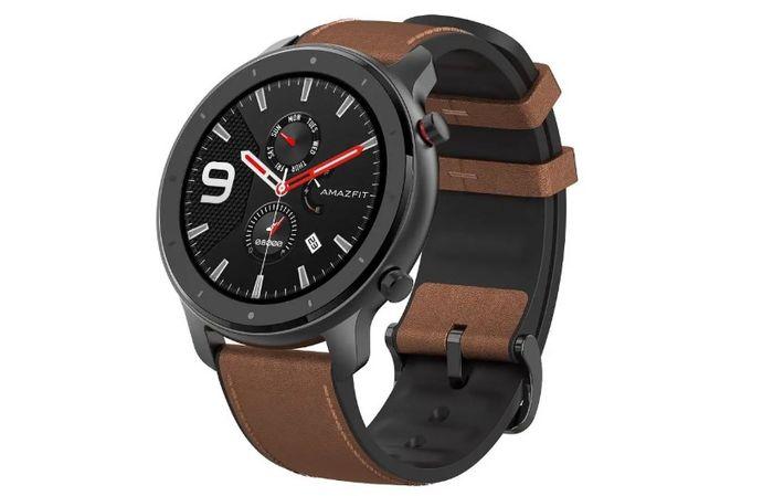 Inteligentní hodinky Xiaomi Amazfit GTR 47 mm s hnědým páskem