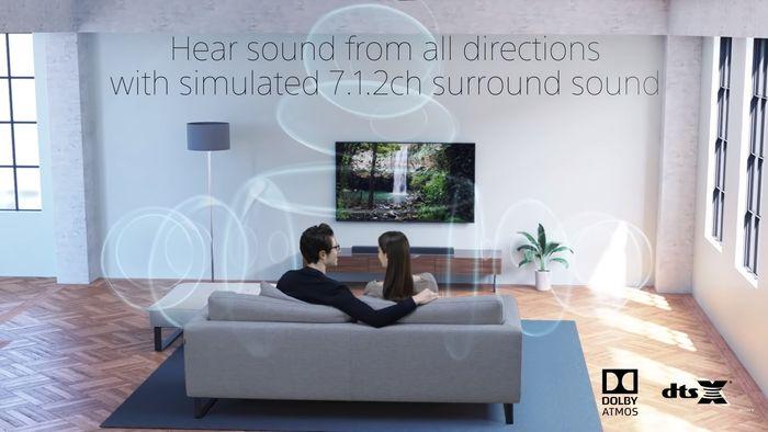 Sony HT-X8500 podporované zvukové formáty