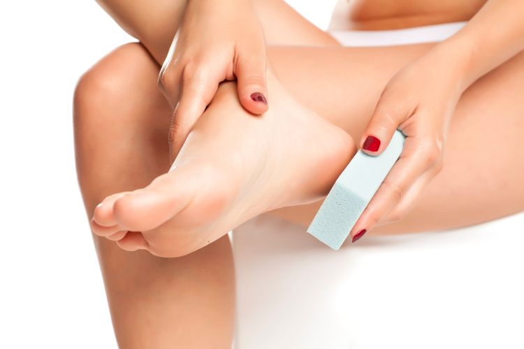 Pemza na ztvrdlou kůži na chodidlech