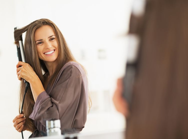 Kulmování dlouhých vlasů
