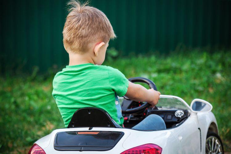 Bílé elektrické autíčko pro 1 dítě