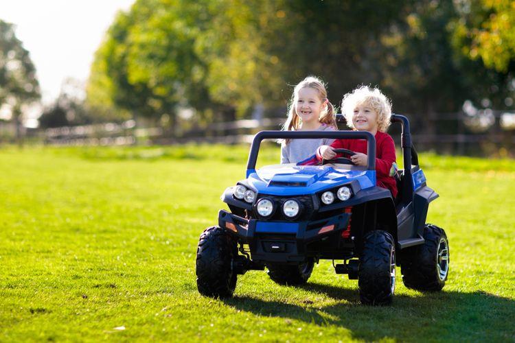 Elektrické terénní auto pro 2 děti