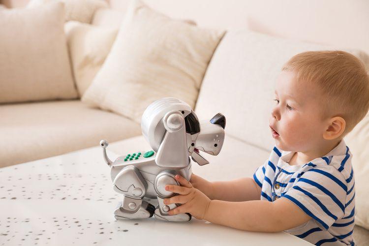 Robotický pejsek vhodný pro malé dítě