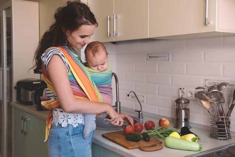Barevný bavlněný šátek na nošení dětí