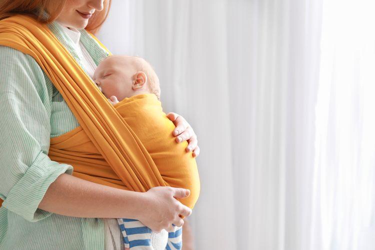 Klasický elastický šátek na nošení dětí