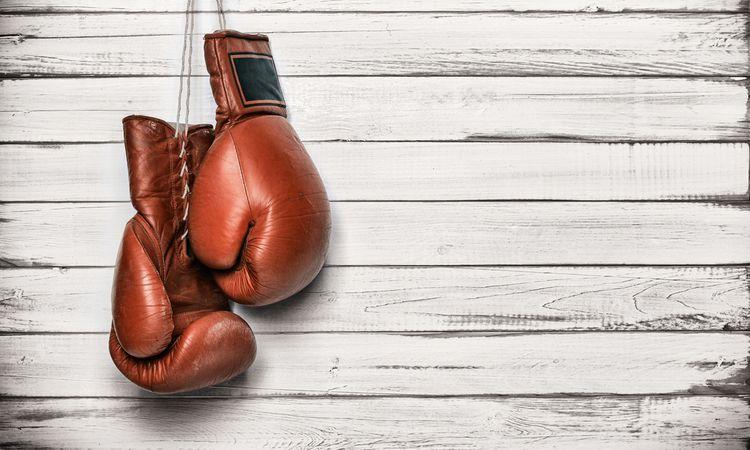 Kožené boxerské rukavice se šňůrkami