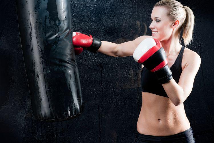 Boxovací pytel ze syntetické kůže