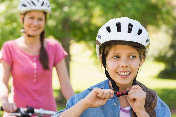 Větrací otvory na cyklistické přilbě