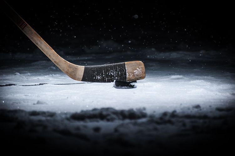 Jednodílná dřevěná hokejka