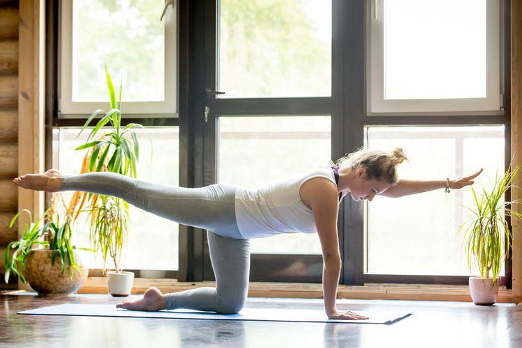 Cvičení na fitness podložce