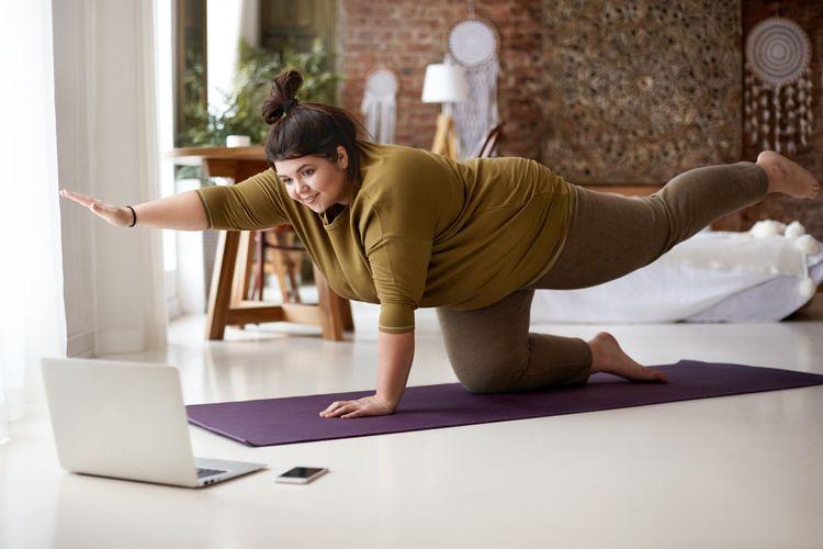Podložka na cvičení určená na jógu– jógamatka, yoga mat
