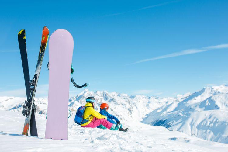 Snowboard versus lyže