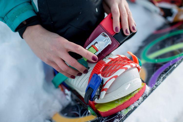 Vázání na snowboard