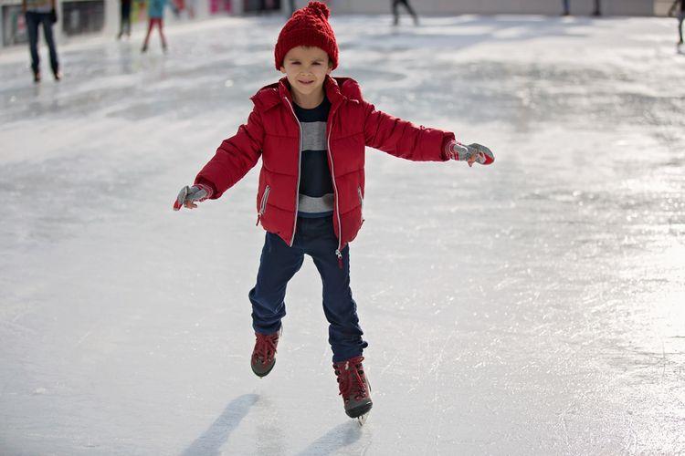 Dětské zimní brusle na led