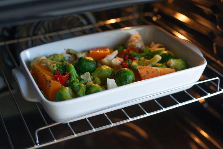 Příprava zeleniny v konvektomatu