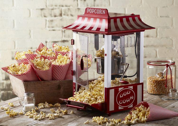 Hrncový popcornovač na výrobu domácích popcornu