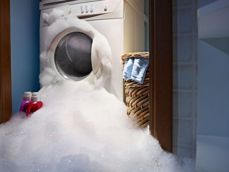 Tvorba nadměrné pěny v pračce