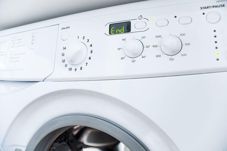 Ukončení pracího programu automatické pračky