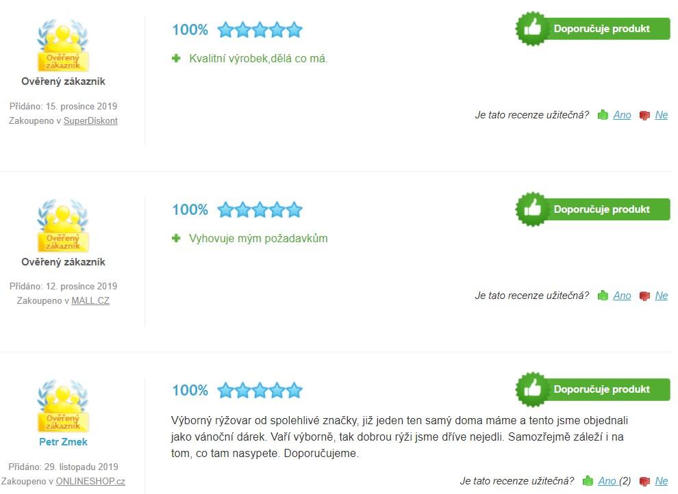 Recenze a zkušenosti s Rýžovary Tefal Classic 2 RK102811