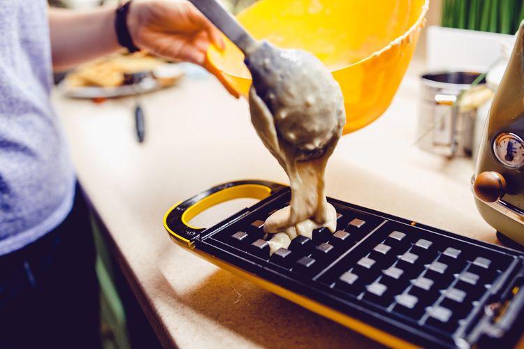 Příprava domácích vaflí