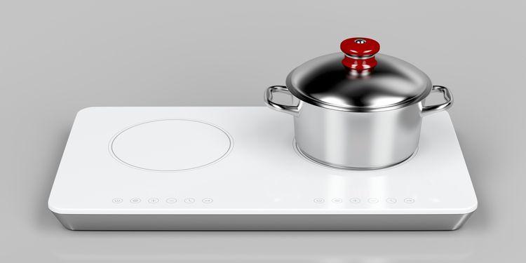Bílý indukční vařič