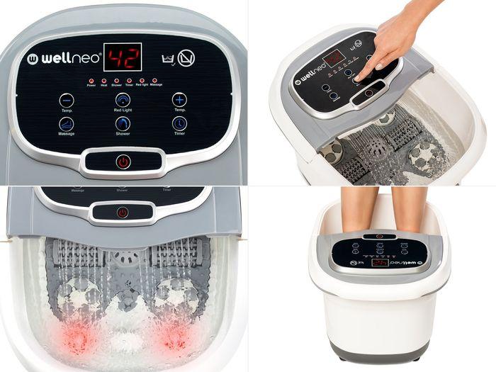 Wellness SPA na nohy 2v1 přístroj na masáž a koupel nohou
