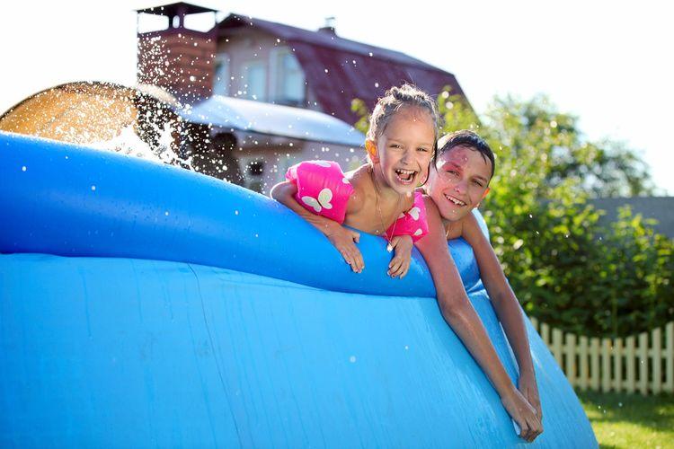 Nadzemní gumový bazén