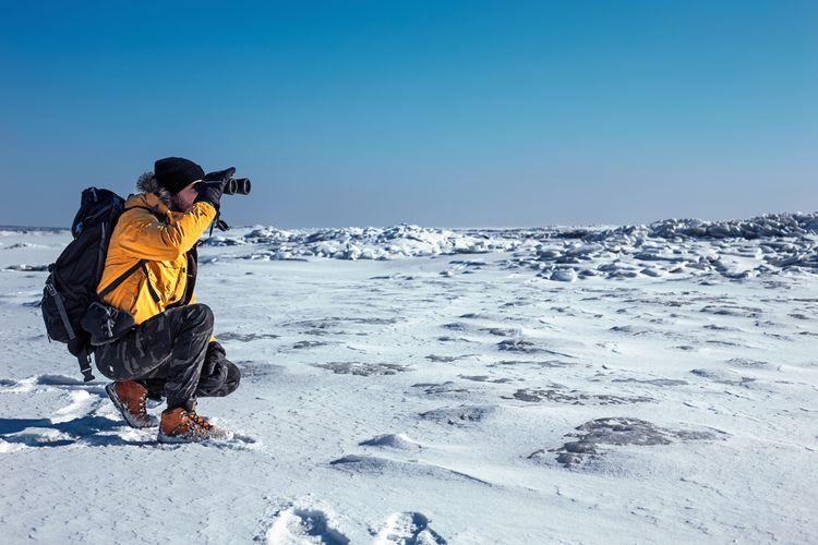 Používání dalekohledu v zimě