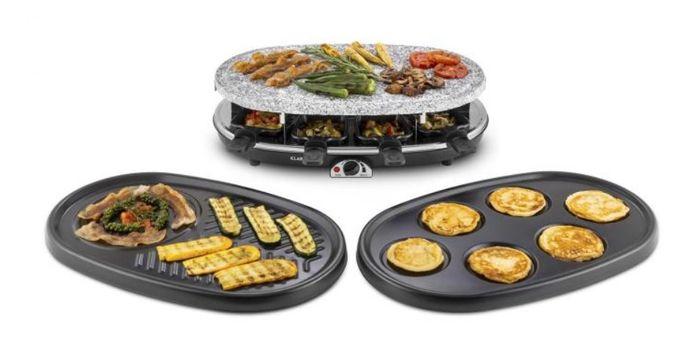Raclette gril Klarstein All-U-Can-Grill se 3 vyměnitelnými plotýnkami