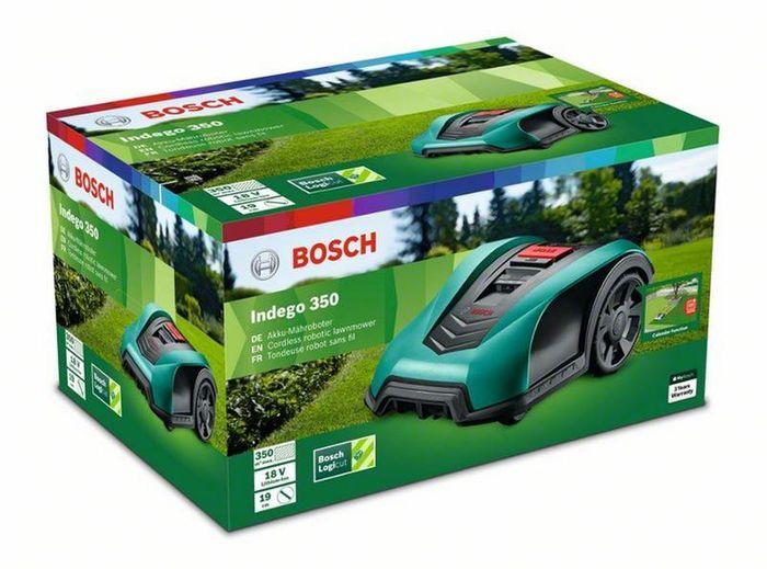 Balení robotické sekačky Bosch Indego 350
