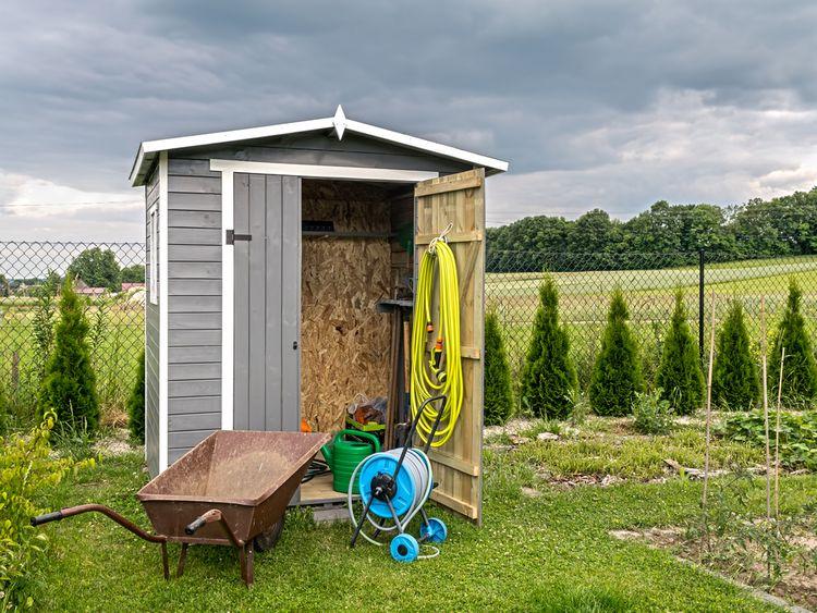 Dřevěný zahradní domek na nářadí