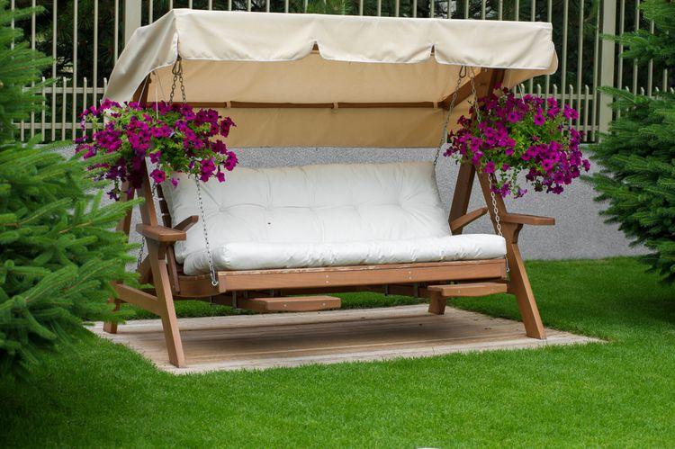 Sedadlo zahradní houpačky