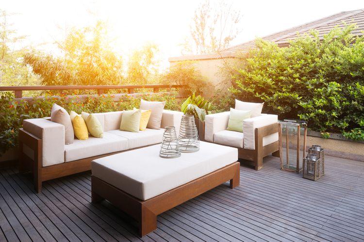 Čalouněný zahradní nábytek