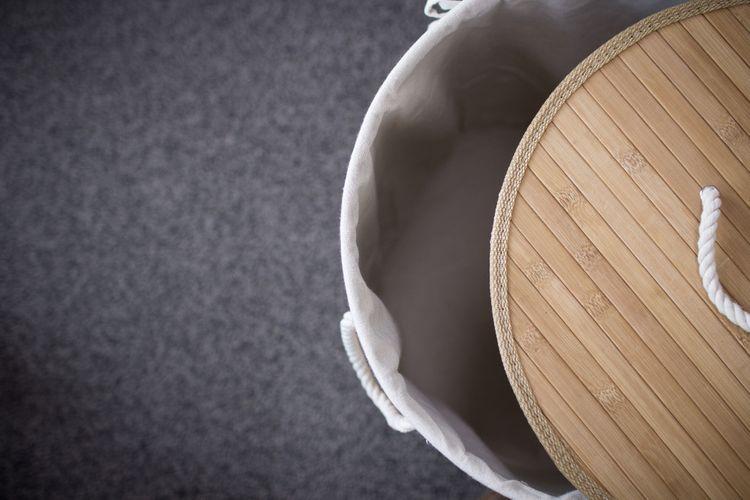 Bambusový koš na prádlo s látkovým vnitřkem