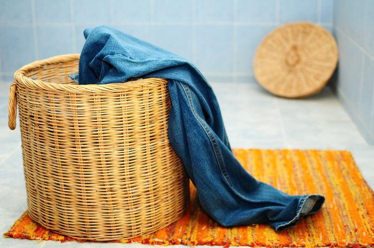 Proutěný koš na prádlo