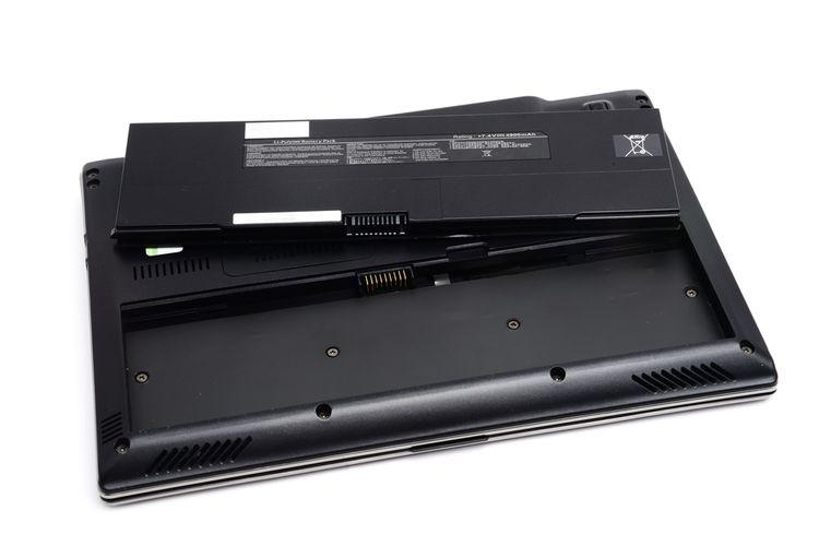 Notebook s vyjímatelnou baterií