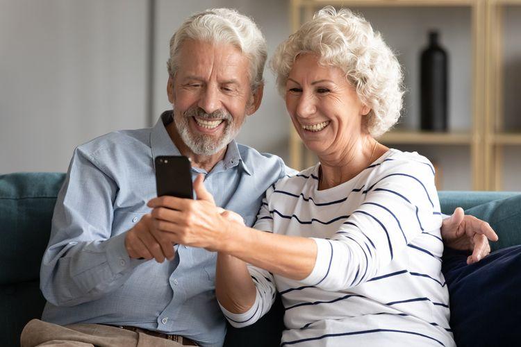 Dotykový mobil pro seniory– ovládání