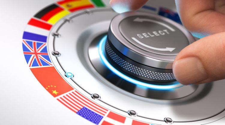 Výběr jazyků v hlasovém překladači