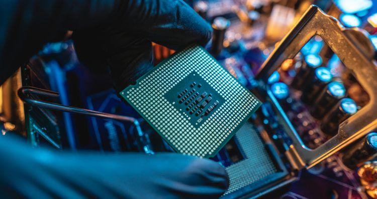 Výkonný procesor počítače