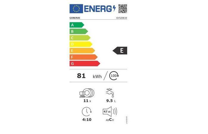 Gorenje GV520E10 energetický štítek