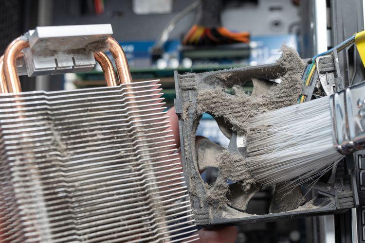 Čištění chladiče na procesor