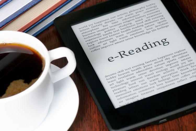 E-book v čtečce