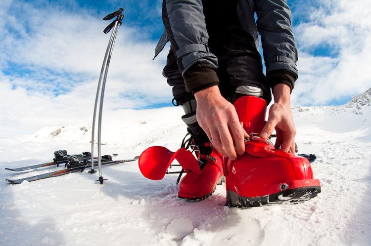 Červené lyžařky
