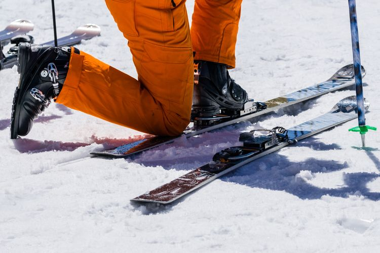 Obouvání lyží