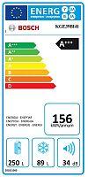 Kombinace chladničky s mrazničkou Bosch KGE39BI41 nerez